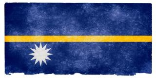 Nauru grunge flag  blue