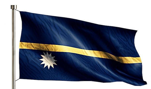 Nauru national flag isolated 3d white background