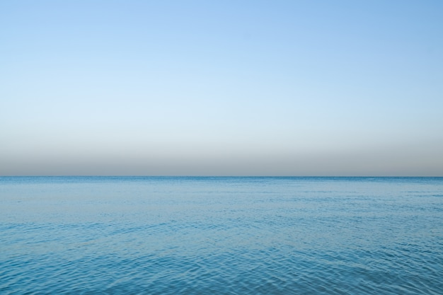 Nautical background. horizon line on the sea. the sea calm. peaceful minimalistic view of the sea.