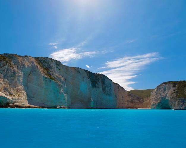 자킨 토스 섬, 그리스에 navagio 해변