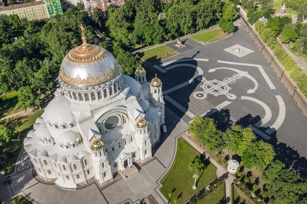 Naval cathedral of st. nicholas. aerial view