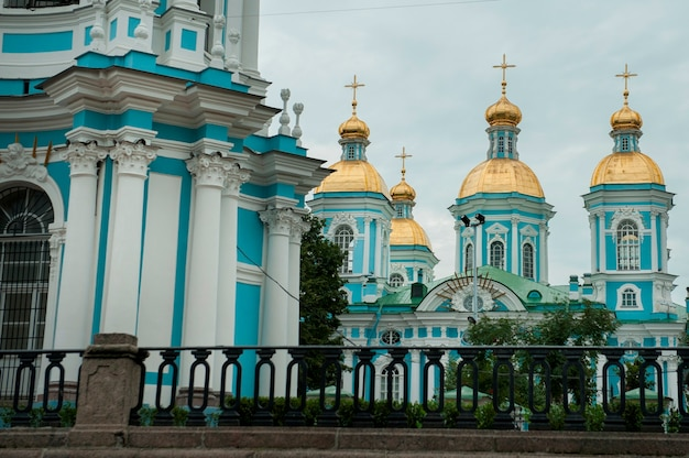 Naval cathedral of st. nicholas, st. petersburg, russia