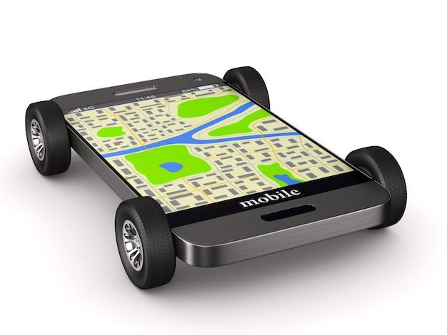 Навигация в телефоне. изолированная 3-я иллюстрация
