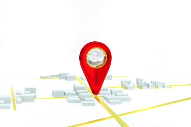 ナビゲーターgps都市地図背景コンセプト3dレンダリング