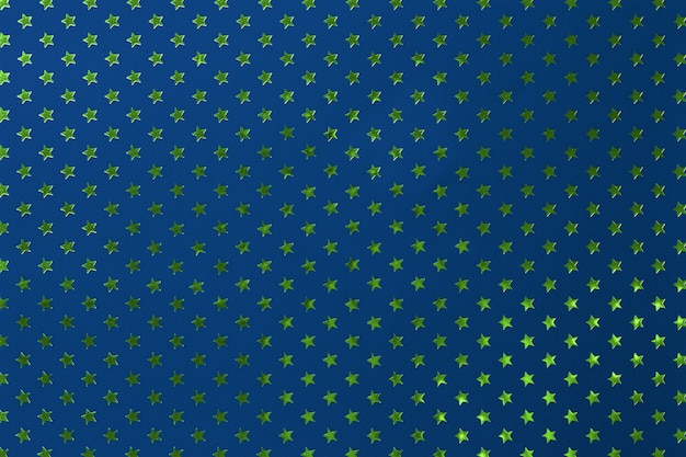 Navy blue background from metal foil paper with a golden green stars.