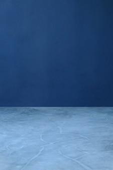 ネイビーブルーのセメントとセメントの床、インテリアの壁紙の背景、コンクリートの壁紙の背景