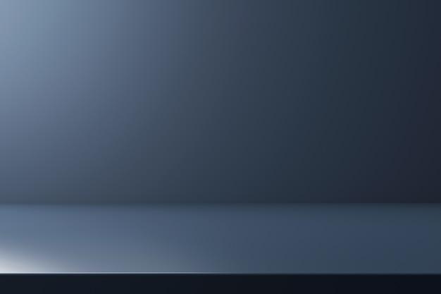 빈 배경으로 판촉 디스플레이에 네이비 블루 제품 배경 스탠드 또는 연단 받침대. .
