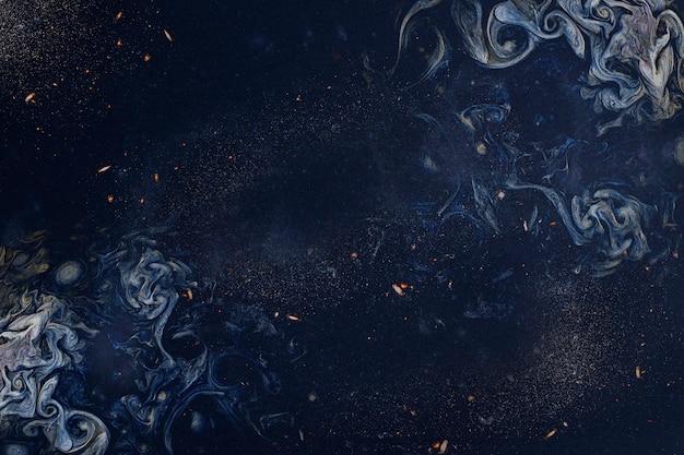 Fondo astratto di arte fumosa blu navy