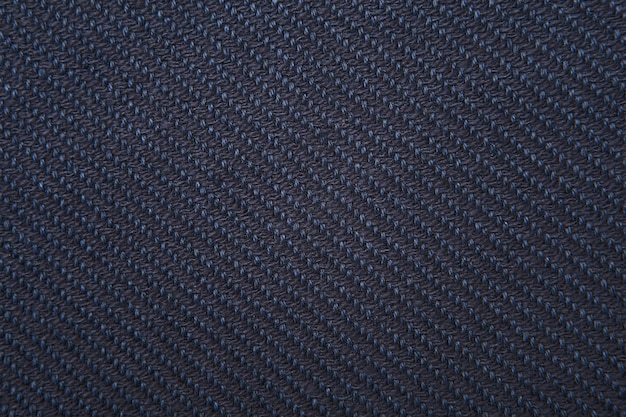 Navy twill weave fabric pattern texture closeup