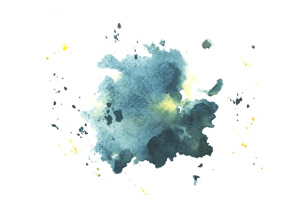 Navy watercolor stain paint stroke background