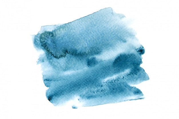 Navy watercolor stain with color shades paint background