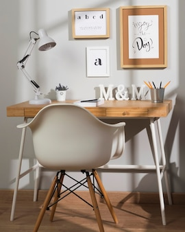 Neat and tidy organised interior workspace