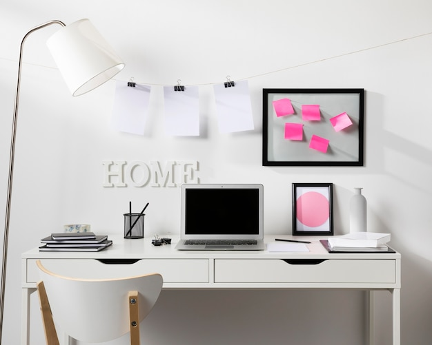 Neat and tidy workspace with laptop