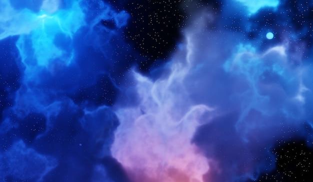 Туманности и галактики в космосе. абстрактный фон космоса