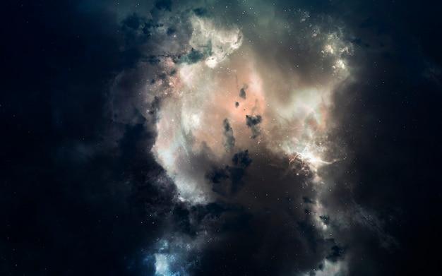 Туманность. изображение глубокого космоса, фантастическая фантастика в высоком разрешении идеально подходит для обоев и печати. элементы этого изображения, предоставленные наса
