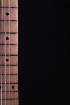 Neck of electric guitar