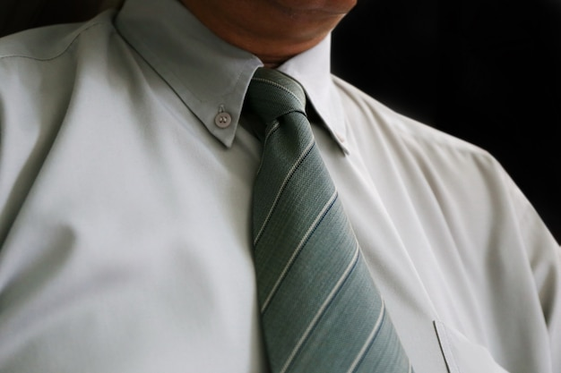 Necktie of businessman