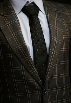 Necktie with suit