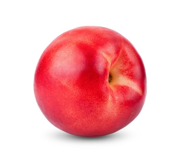 白いテーブルにネクタリンのフルーツ。