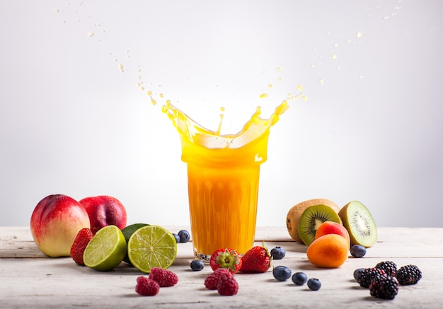 Nectarine juice splash
