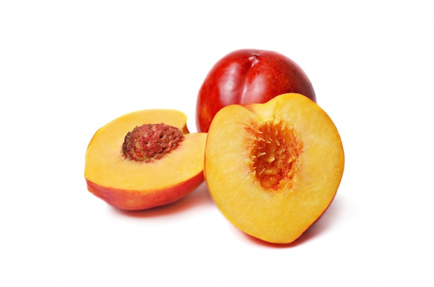 Nectarines isolated