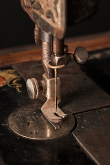 Needle of ancient sewing machine