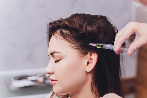 Needle mesotherapy in beauty salon