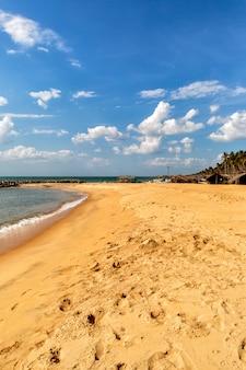 Negombo beach at sri lanka