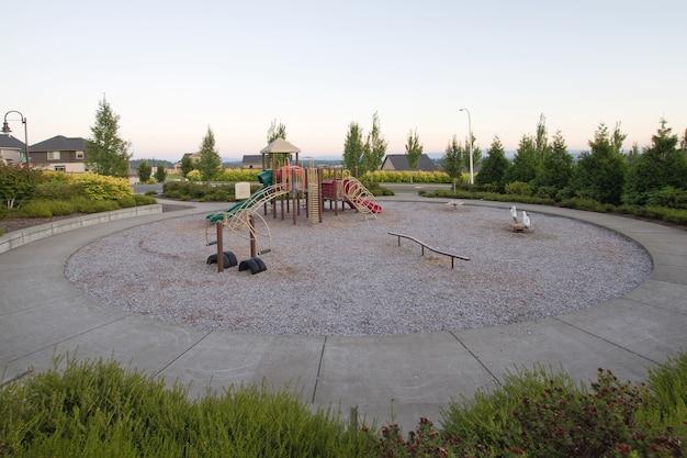 Neighborhood public park children's circular playground