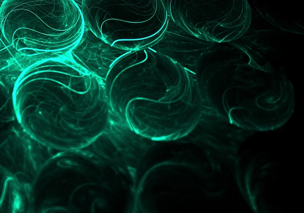 Neon 3d abstract ball background