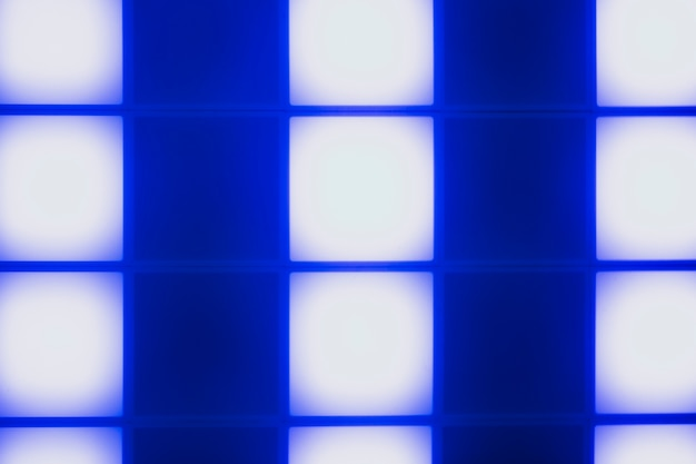Neon blue light cubes abstract design