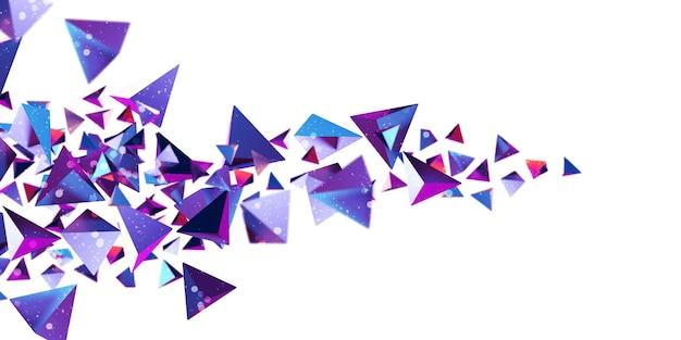 네온 컬러 삼각형 큐브 큐브 모양 80 년대 추상 그라데이션 삼각형