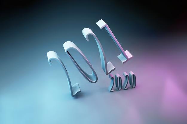 2021年から2020年までのネオン図