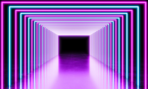 Neon light abstract background