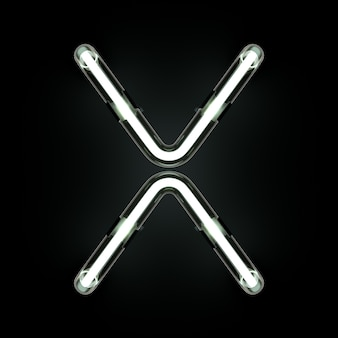 Neon Light Alphabet X