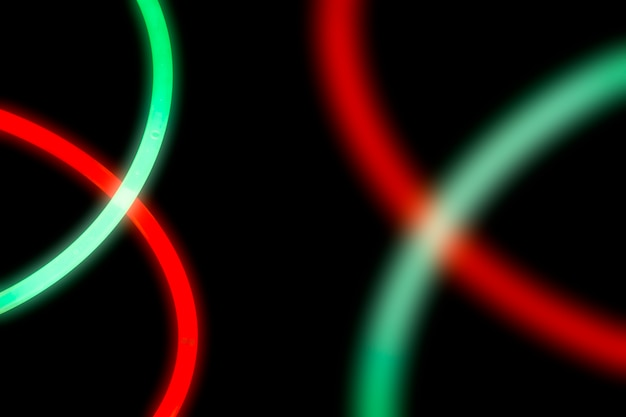 Neon light on dark background