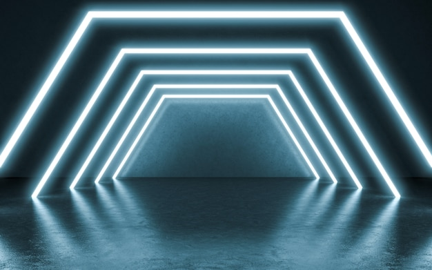 Neon lights background. 3d illustration