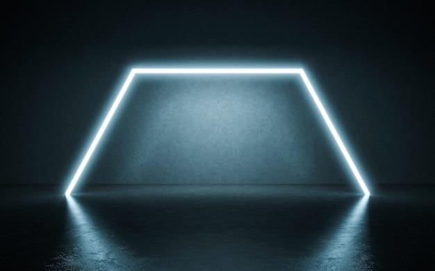 Neon lights background. 3d illustration