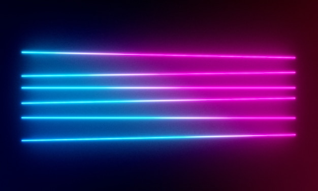 Neon lights background.