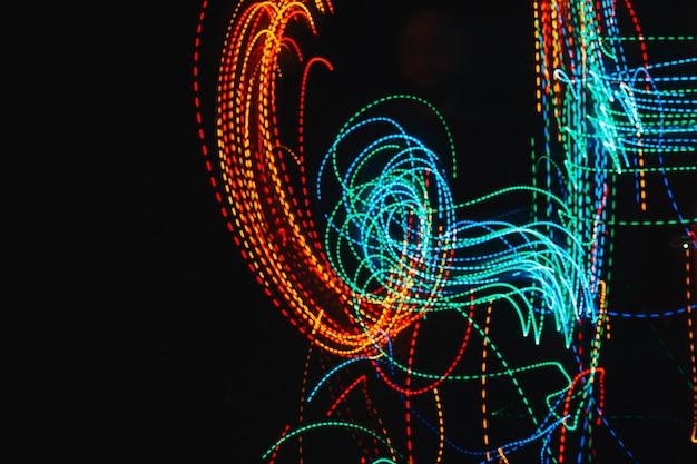Neon lights swirling