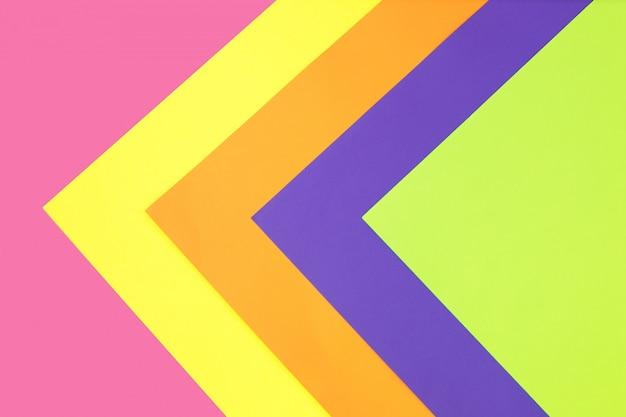 Neon multicolored bright background in trendy colors.