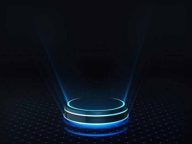 Neon round pedestal