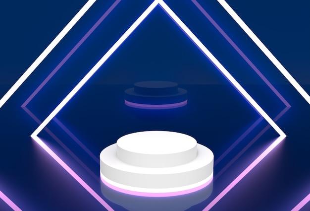 네온 간단한 디스플레이 스탠드 3d 렌더링