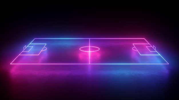 Neon soccer field scheme