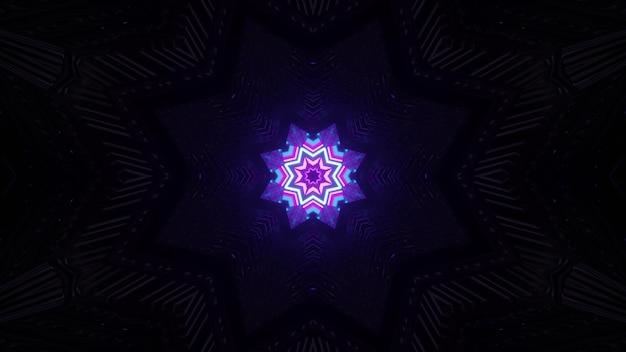 Neon star in darkness 4k uhd 3d illustration