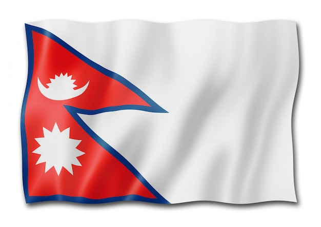 Nepalese flag isolated
