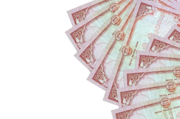 네팔 루피 지폐 절연 거짓말