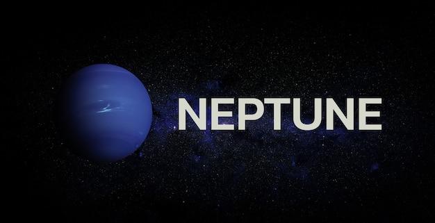Нептун на космическом фоне. элементы этого изображения предоставлены наса.