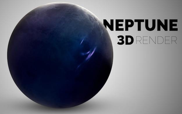 Нептун. набор планет солнечной системы в 3d. элементы этого изображения, предоставленные наса