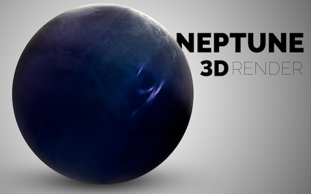 Neptune. set of solar system planets rendered in 3d. elements of this image furnished by nasa